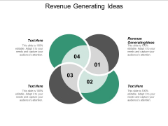 Revenue Generating Ideas Ppt PowerPoint Presentation Pictures Inspiration Cpb