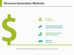 Revenue Generation Methods Ppt PowerPoint Presentation Slides Tips