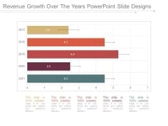 Revenue Growth Over The Years Powerpoint Slide Designs
