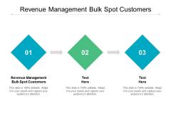 Revenue Management Bulk Spot Customers Ppt PowerPoint Presentation Show Gallery Cpb