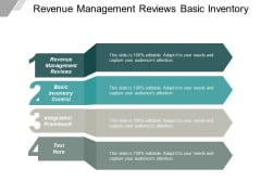 Revenue Management Reviews Basic Inventory Control Integration Framework Ppt PowerPoint Presentation Model Format
