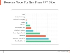Revenue Model For New Firms Ppt Slide