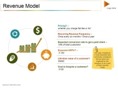Revenue Model Ppt PowerPoint Presentation Outline Example