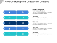 Revenue Recognition Construction Contracts Ppt PowerPoint Presentation Show Tips Cpb