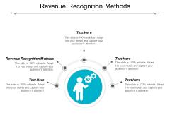 Revenue Recognition Methods Ppt PowerPoint Presentation Ideas Slideshow Cpb