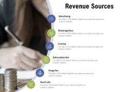 Revenue Sources Ppt PowerPoint Presentation Icon