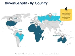 Revenue Split By Country Management Ppt PowerPoint Presentation Outline Show