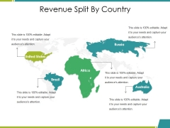 Revenue Split By Country Ppt PowerPoint Presentation File Design Inspiration