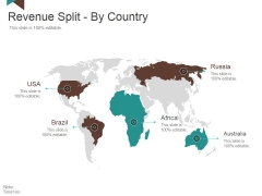 Revenue Split By Country Ppt PowerPoint Presentation Layouts Layout