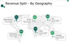 Revenue Split By Geography Ppt PowerPoint Presentation Layouts Elements