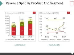 Revenue Split By Product And Segment Ppt PowerPoint Presentation Icon Design Inspiration