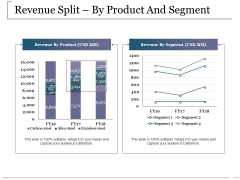 Revenue Split By Product And Segment Ppt PowerPoint Presentation Outline Shapes