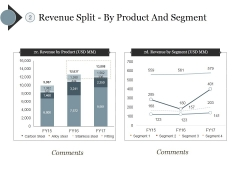 Revenue Split By Product And Segment Ppt PowerPoint Presentation Portfolio Graphics Pictures