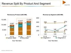 Revenue Split By Product And Segment Ppt PowerPoint Presentation Show Styles