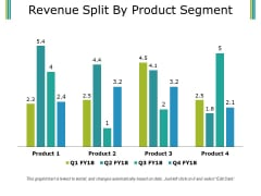 Revenue Split By Product Segment Template 1 Ppt PowerPoint Presentation Infographics Smartart