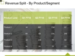 Revenue Split By Product Segment Template 1 Ppt PowerPoint Presentation Outline Layout
