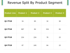 Revenue Split By Product Segment Template 2 Ppt PowerPoint Presentation Professional Show