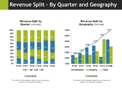 Revenue Split By Quarter And Geography Ppt PowerPoint Presentation Slides Vector
