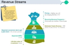 Revenue Streams Template 1 Ppt PowerPoint Presentation Inspiration Skills