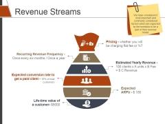 Revenue Streams Template 2 Ppt PowerPoint Presentation Show Good