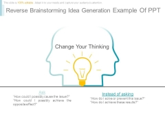 Reverse Brainstorming Idea Generation Example Of Ppt