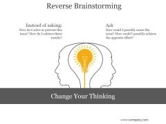 Reverse Brainstorming Ppt PowerPoint Presentation Background Designs