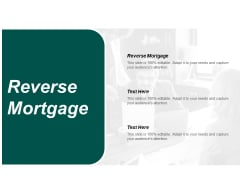 Reverse Mortgage Ppt PowerPoint Presentation Professional Images Cpb