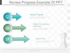 Review Progress Example Of Ppt
