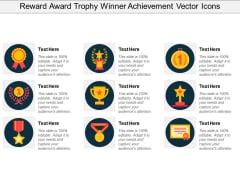 Reward Award Trophy Winner Achievement Vector Icons Ppt PowerPoint Presentation Gallery Smartart