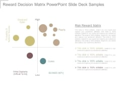 Reward Decision Matrix Powerpoint Slide Deck Samples
