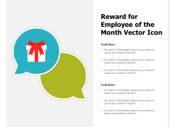 Reward For Employee Of The Month Vector Icon Ppt PowerPoint Presentation Gallery Summary PDF