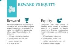 Reward Vs Equity Ppt PowerPoint Presentation Inspiration Files