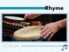 Rhyme Artist Playing Individual Clapping Ppt PowerPoint Presentation Complete Deck
