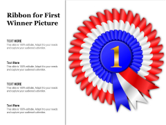 Ribbon For First Winner Picture Ppt PowerPoint Presentation Show Microsoft PDF