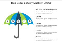 Rise Social Security Disability Claims Ppt PowerPoint Presentation Infographic Template Vector Cpb
