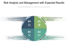Risk Analysis And Management With Expected Results Ppt PowerPoint Presentation File Outfit PDF
