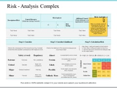 Risk Analysis Complex Ppt PowerPoint Presentation Pictures Portrait