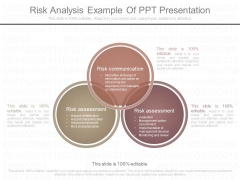 Risk Analysis Example Of Ppt Presentation