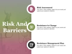 Risk And Barriers Ppt PowerPoint Presentation Portfolio Example File
