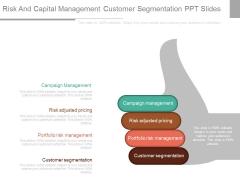 Risk And Capital Management Customer Segmentation Ppt Slides