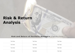 Risk And Return Analysis Ppt PowerPoint Presentation Infographic Template Tips