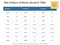 Risk And Return Of Stocks Bonds And T Bills Ppt PowerPoint Presentation Inspiration Slide
