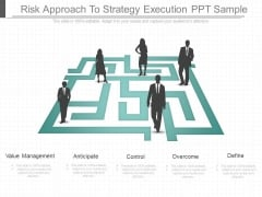 Risk Approach To Strategy Execution Ppt Sample