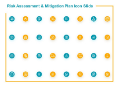 Risk Assessment And Mitigation Plan Icon Slide Gear Ppt PowerPoint Presentation Pictures Deck