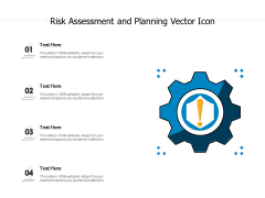 Risk Assessment And Planning Vector Icon Ppt PowerPoint Presentation Icon Rules PDF