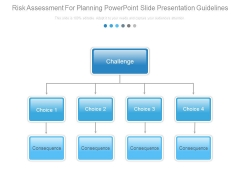 Risk Assessment For Planning Powerpoint Slide Presentation Guidelines
