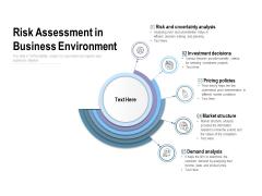 Risk Assessment In Business Environment Ppt PowerPoint Presentation Slides