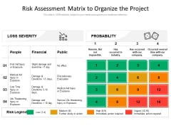 Risk Assessment Matrix To Organize The Project Ppt PowerPoint Presentation Infographic Template Inspiration PDF