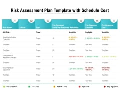 Risk Assessment Plan Template With Schedule Cost Ppt PowerPoint Presentation File Example Introduction