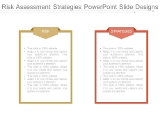 Risk Assessment Strategies Powerpoint Slide Designs